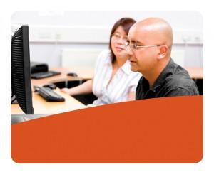 Adult Students on PCs