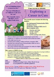 Exploring a career in care